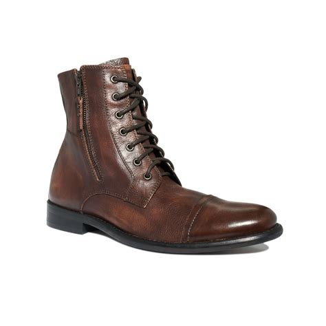 kenneth cole sneakers mens kenneth cole reaction hit cap toe lace up boots in