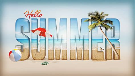 3d text typography tutorial photoshop create a summer inspired 3d text effect in photoshop
