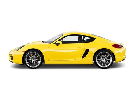 yellow porsche side view image 2015 porsche cayman 2 door coupe side exterior view