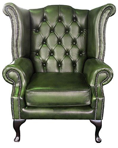green leather chesterfield armchair chesterfield antique green genuine leather armchair