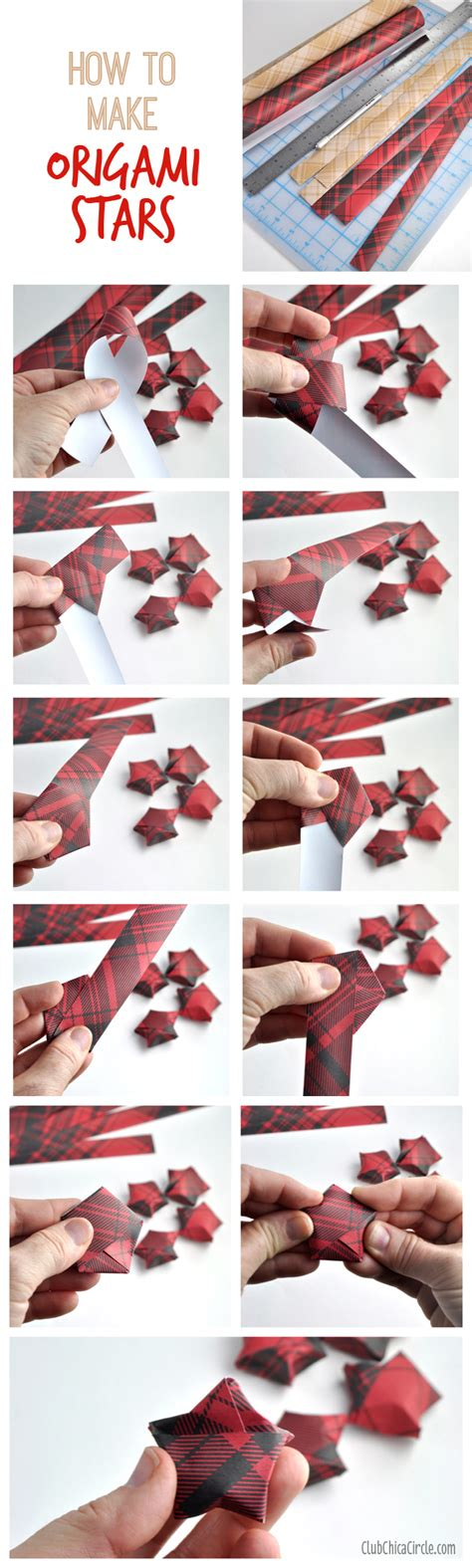 Wrapping Paper Folding Techniques - origami garland diy club chica circle