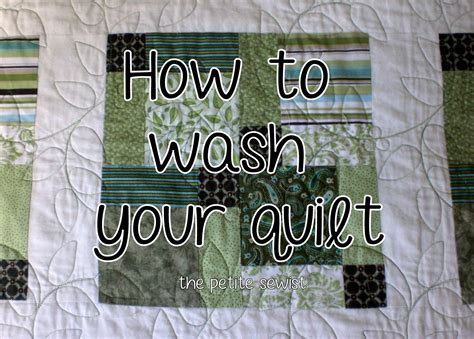 the sewist how to wash your quilt