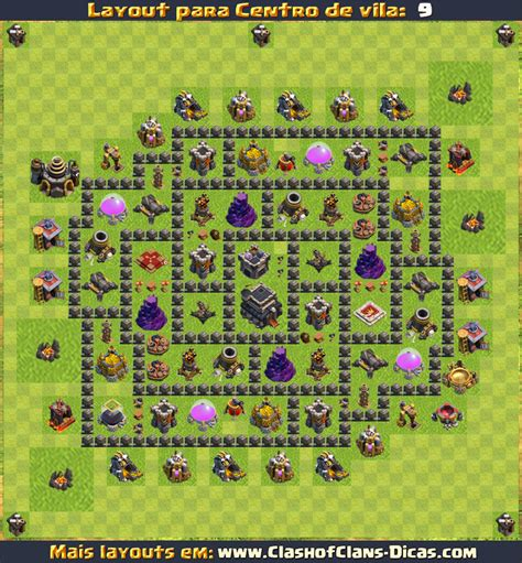 layout building clash of clans layouts para cv9 em clash of clans atualizados clash