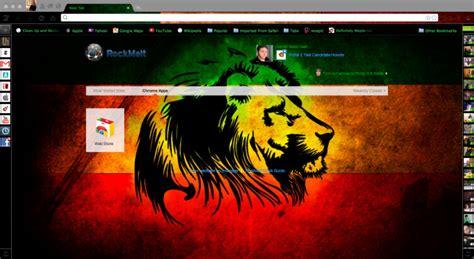rasta theme for google chrome rasta lion theme chrome theme themebeta
