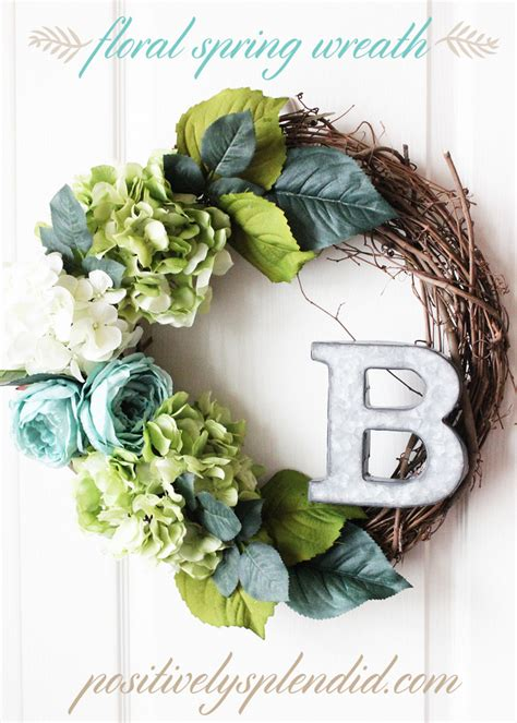 how to make a spring wreath floral spring wreath