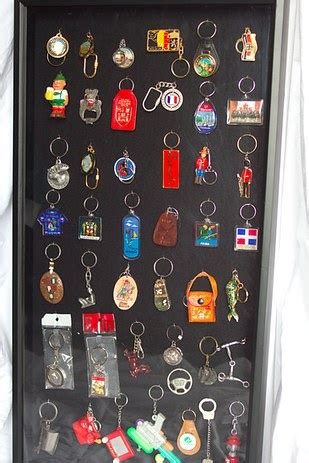 Key Chain Collection Display Made For My - 20 ways to display keepsakes from your travels and trips