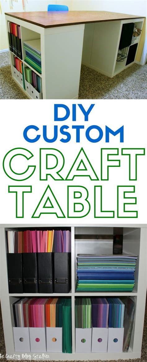 diy craft table ikea 12 awesome diy craft tables with free plans shelterness
