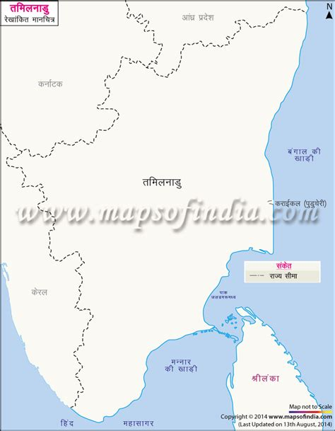 Tamilnadu Outline Map India by तम लन ड क र ख क त नक श म नच त र