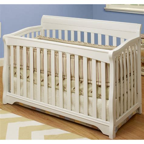 Crib Toddler Rail by Sb2 Florence Crib With Toddler Rail In White