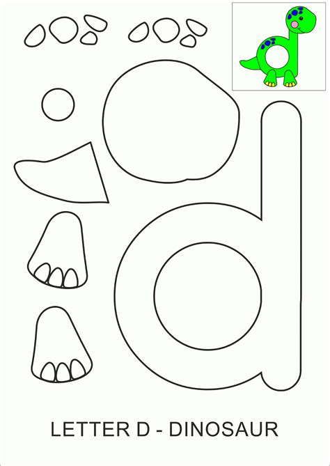 Letter D Crafts For Preschool Preschool And Kindergarten Letter Template Activity