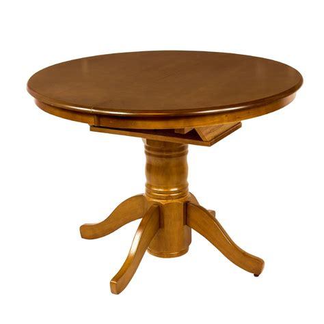 mesa de comedor redonda extensible de madera