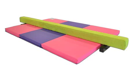 gymnastics balance beam and folding mat combo package ak