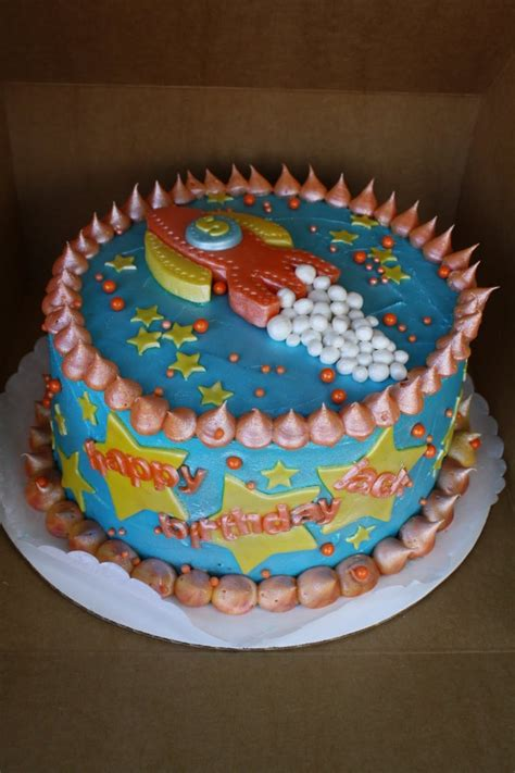 rocket ship cakes decoration ideas  birthday cakes