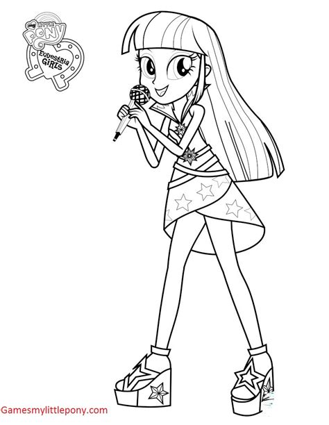 my little pony sirens coloring pages my little pony twilight sparkle singer coloring page my