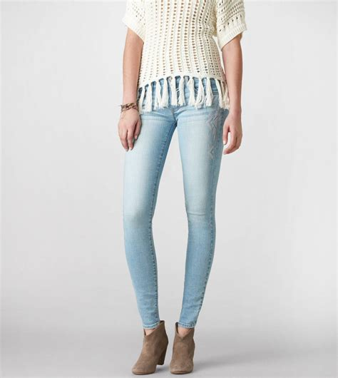 Basic Jegging Light Blue embroidered jegging ankle american eagle outfitters