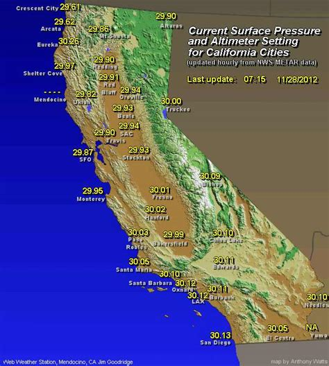 weather maps california weather map california my