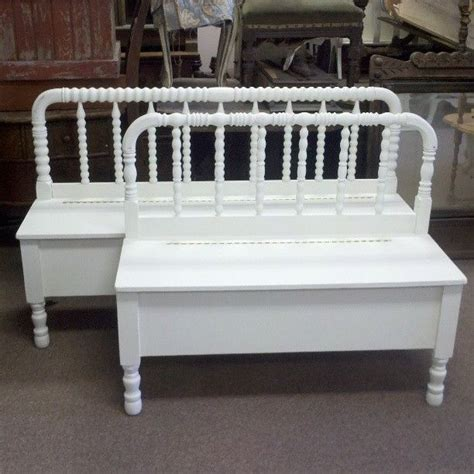 bench made from bed headboard handmade spool headboard bench with storage by playing on