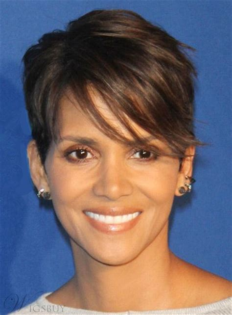 cutting back of halle berry wig halle berry pixie boy cuts short layered synthetic hair