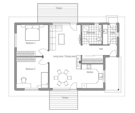 Small House Plan Ch93 House Design And Floor Plans Small Small Home Plans With Cost