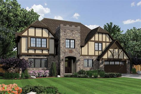 tudor style house plan 3 beds 3 5 baths 3560 sq ft plan