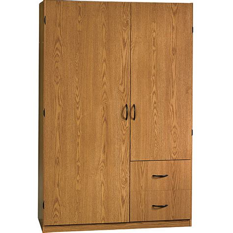 sauder beginnings oregon oak wardrobe cabinet walmart