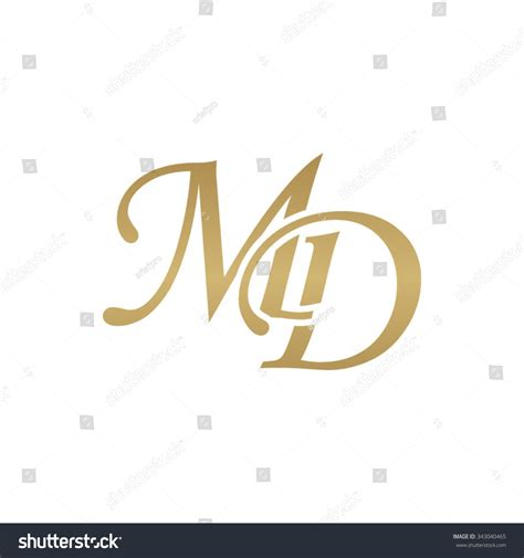 z md md initial monogram logo stock vector 343040465