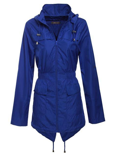 Hooded Plain Parka new womens plain parka mac hooded waterproof