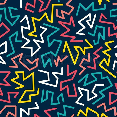 90s colors trendy style seamless pattern inspired by 80s 90s