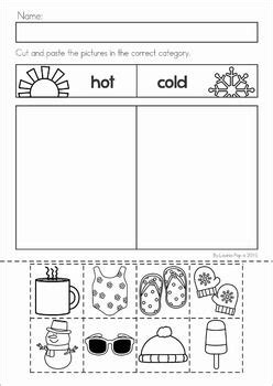 best sheets for warm weather winter preschool no prep worksheets activities cold