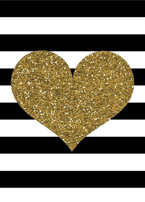 wallpaper gold hearts gold glitter heart print black and white stripes