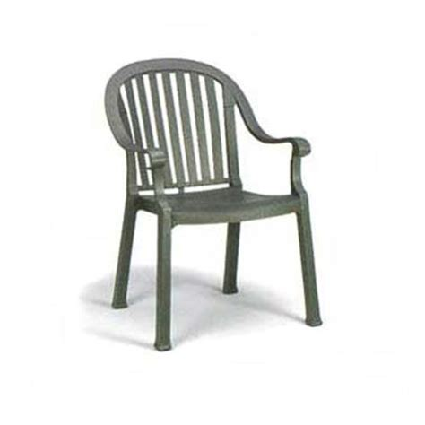 Grosfillex Patio Furniture Grosfillex Us496502 Charcoal Colombo Dining Armchair Etundra