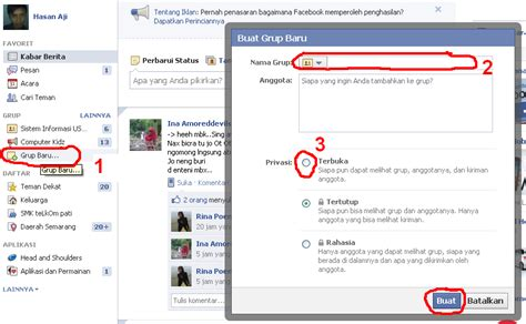 cara membuat facebook yang benar dan lengkap cara membuat group baru pada fb facebook