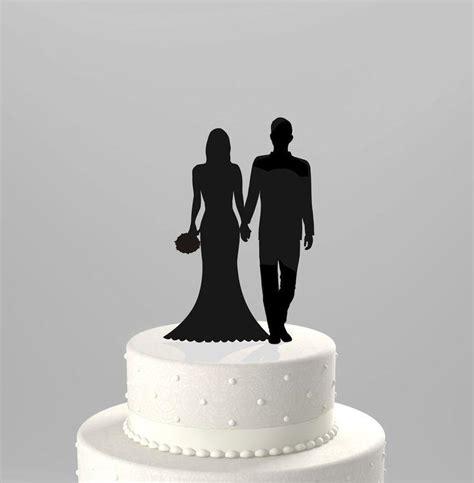 Topper Siluet Wedding Acrilik wedding cake topper silhouette groom and in acrylic cake topper ct86 2171949