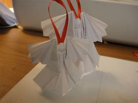 Engel Origami - engelen vouwen voor in de kerstboom hobby blogo nl