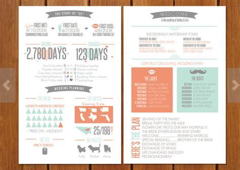 Wedding Program Infographic Wedding Infographic Template