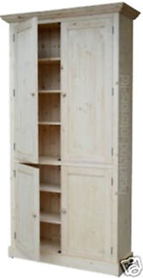pine kitchen pantry cabinet solid pine cupboard 7ft tall handcrafted larder pantry
