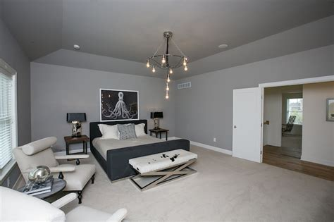 gray ceiling silver gray bedroom with tray ceiling and blade ceiling