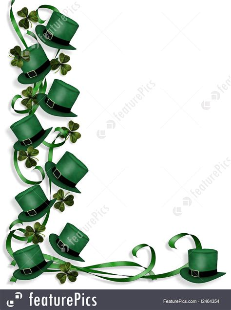 images of st holidays st s day hats and ribbons border stock