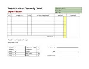 Report Template Blank by Blank Expense Report Helloalive