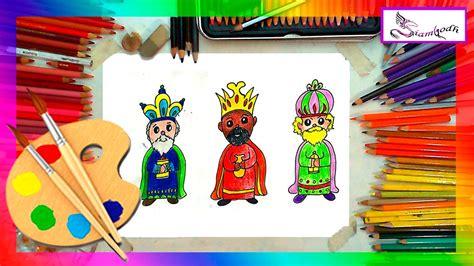 fotos reyes magos para niños como dibujar a los tres reyes magos dibujo f 225 cil para