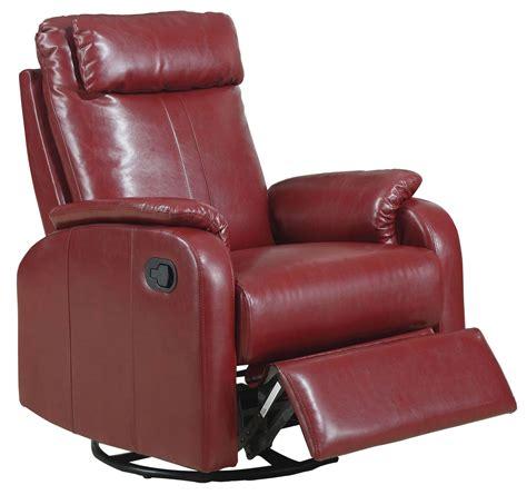 swivel recliner rocker red swivel rocker recliner 8081rd monarch