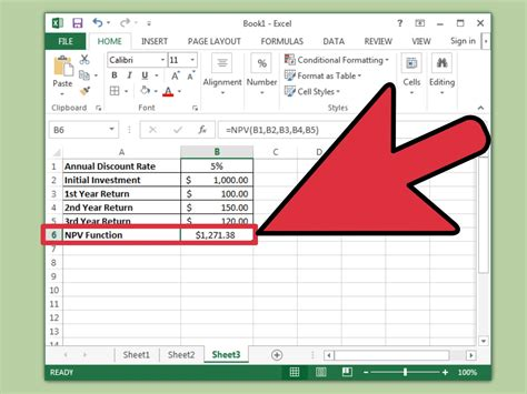 calculator npv how to calculate npv in excel 9 steps with pictures