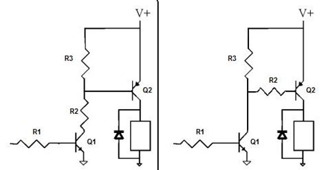 transistor drive is one circuit better than the other to drive the pnp transistor electrical engineering stack