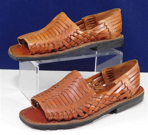 mexican shoes authentic huarache sandals reddish brown mexican sandals