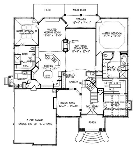 two master suites house plans plan 15632ge two master suites house plans bonus rooms one story home plans with two