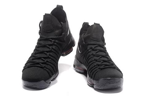nike all black basketball shoes 2017 nike air zoom kd 9 elite all black basketball shoes