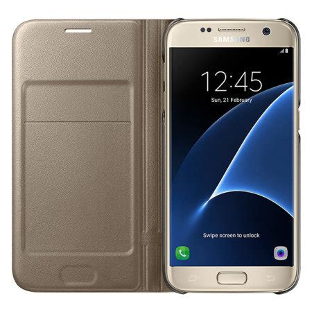 Samsung Galaxy S7 Official Led Flip Cover Casing Cover official samsung galaxy s7 led flip wallet cover gold
