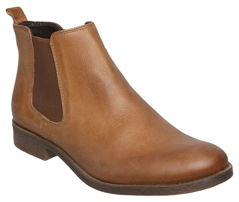 dune paddy d leather ankle chelsea boots in brown lyst