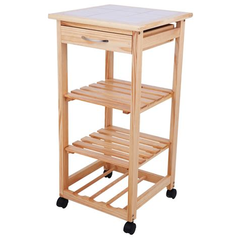 top regal regal trolley ablage kommode rollregal holz holzregal
