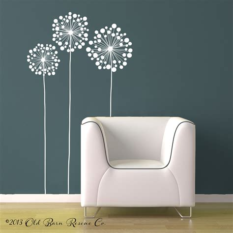 oversized wall stickers 3 large flowers vinyl wall decal design by